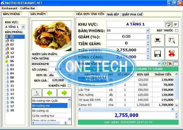Phần mềm quản lý nhà hàng