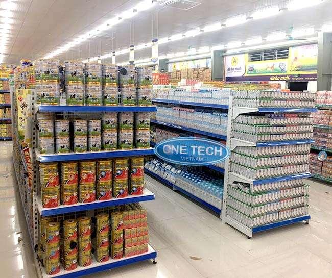 Các mẫu giá kệ trưng bày không thể thiếu trong mô hình kinh doanh sữa