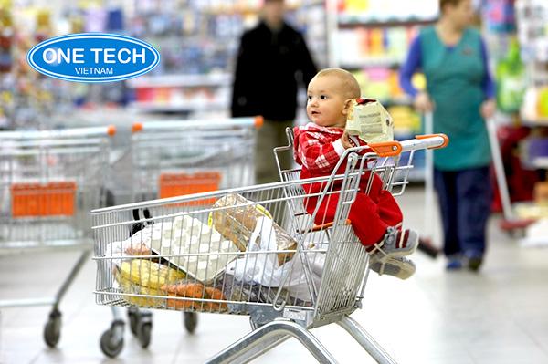Xe đẩy siêu thị phải an toàn, đảm bảo chất lượng