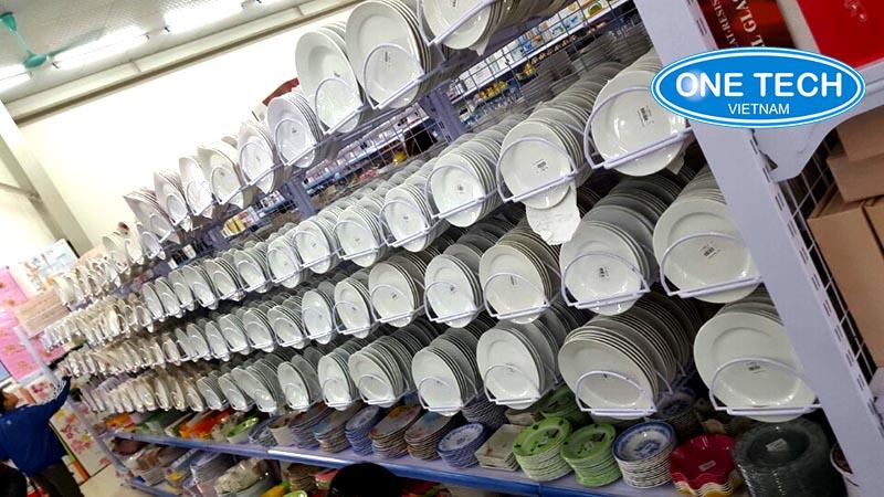kệ siêu thị đựng bát đĩa