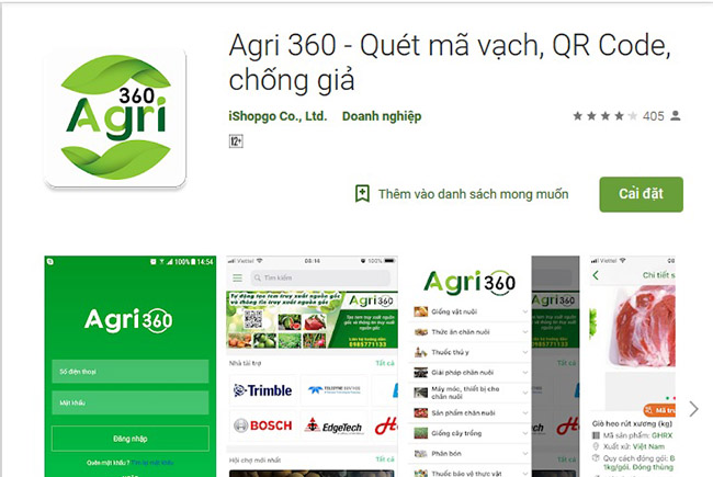 Ứng dụng check mã barcode - mã vạch sản phẩm - Agri 360 - Quét mã vạch, QR Code, chống giả