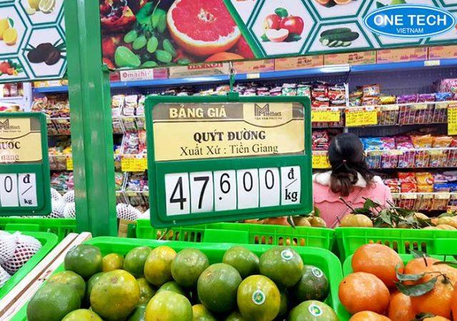 kẹp bảng giá siêu thị