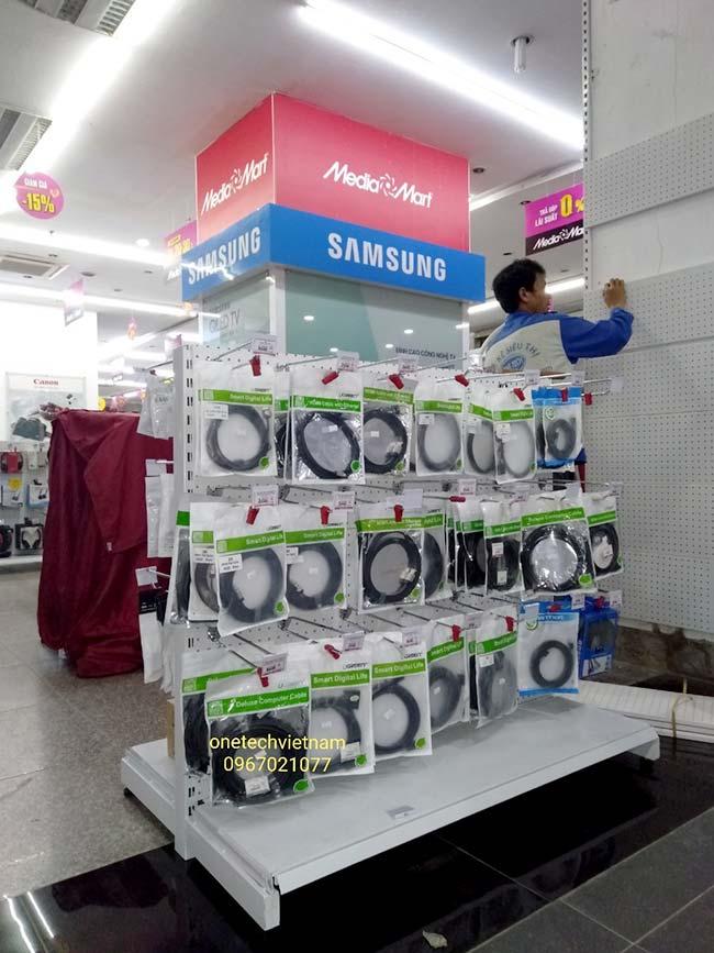 kệ siêu thị điện máy - gia dụng