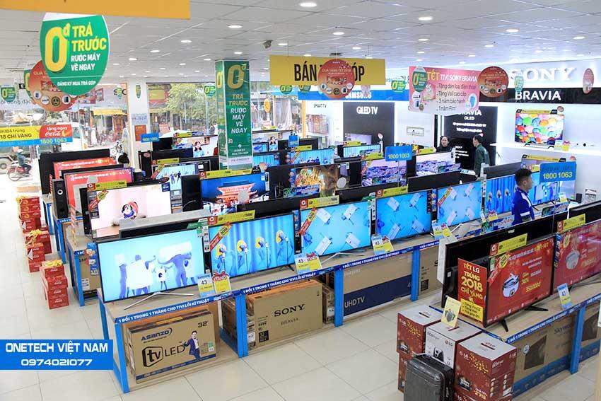 Kệ bán hàng siêu thị điện máy