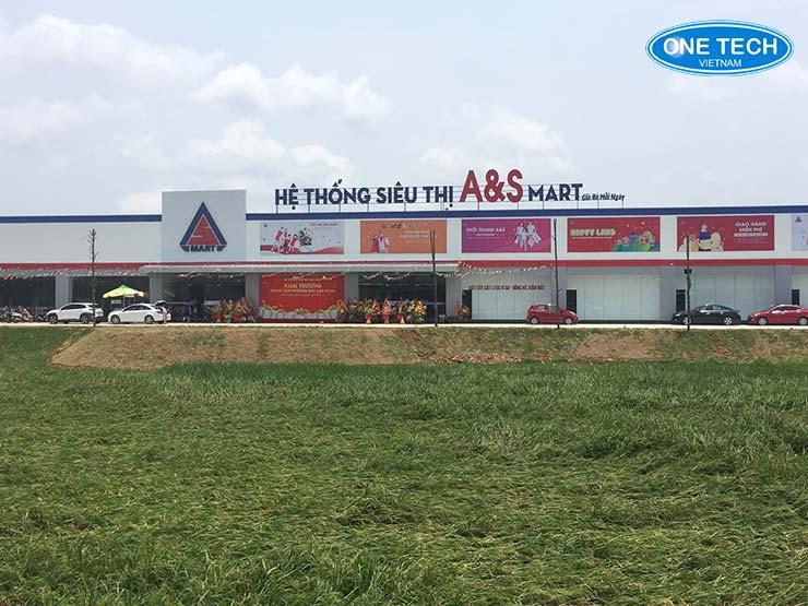 Onetech lắp đặt kệ siêu thị A&S Mart - Thanh Hóa