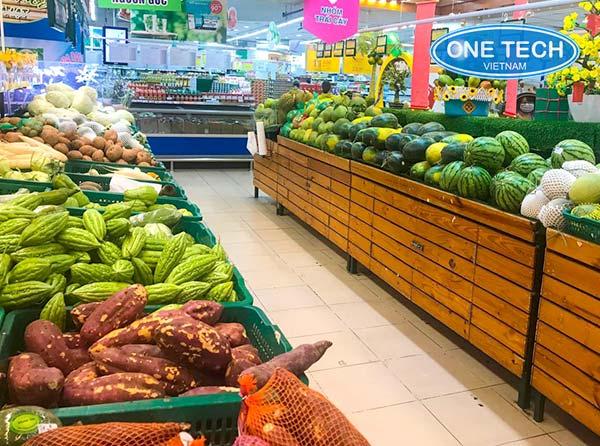 Kệ rau củ quả siêu thị