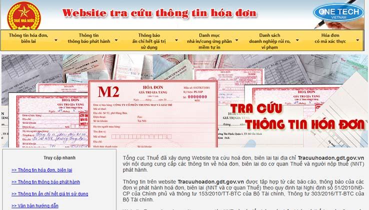 tra cứu thông tin hóa đơn tổng cục thuế