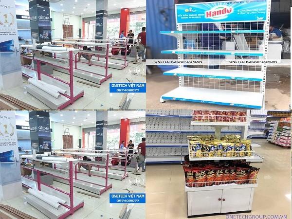 Lắp đặt kệ chứa hàng siêu thị