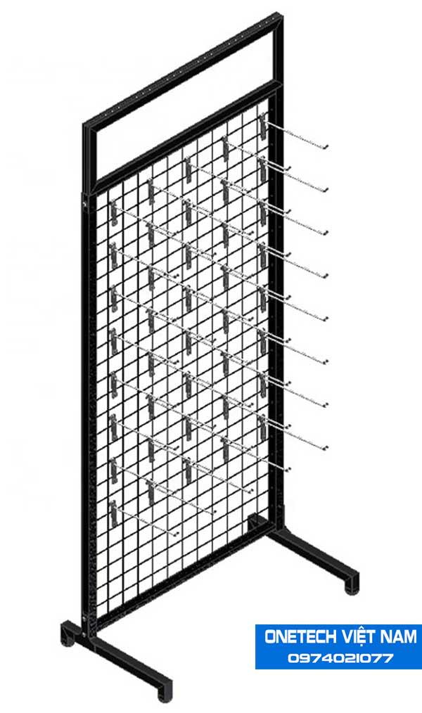 Khung lưới treo hàng có chân đế