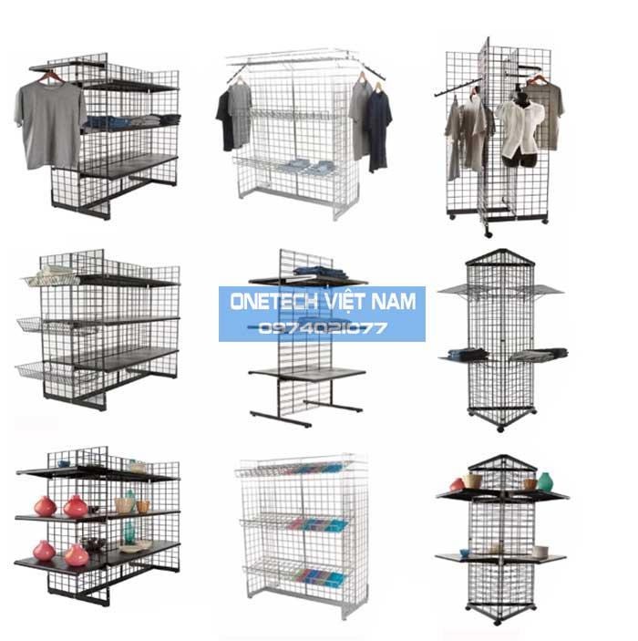 Khung lưới treo hàng, treo đồ trong siêu thị
