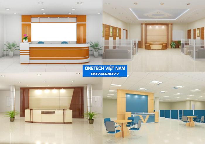 Các mẫu bàn lễ tân đẹp được thiết kế bởi Onetech Việt Nam