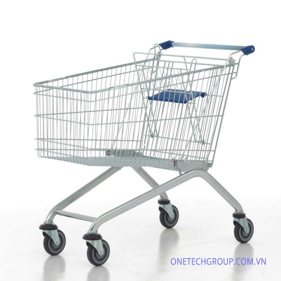 Hình ảnh xe đẩy hàng siêu thị giỏ lưới