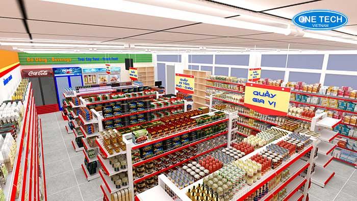 Mô hình 3D siêu thị