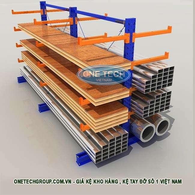 Giá kệ kho chứa sắt,  thép, gỗ và các nguyên vật liệu nặng