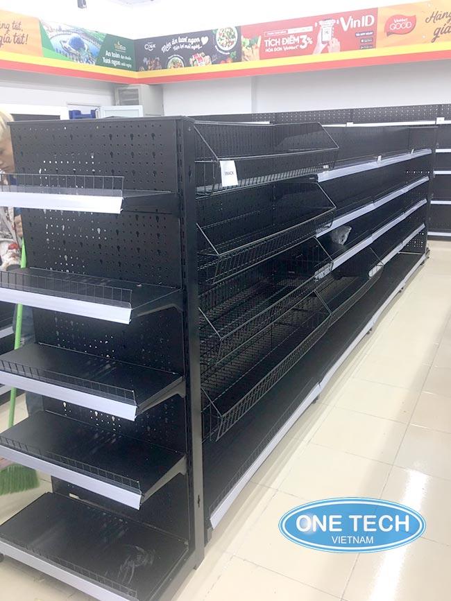 Onetech phân phối độc quyền kệ bày hàng siêu thị Vinmart+