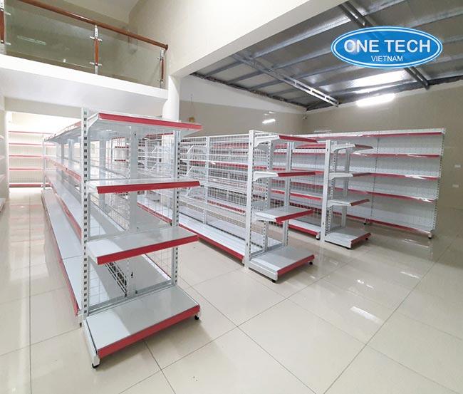 Onetech sản xuất và phân phối trực tiếp kệ siêu thị tại Tây Ninh