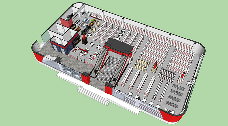 Onetech thiết kế mô hình gian hàng, cửa hàng 3D để giúp khách hàng nhìn trực quan hơn