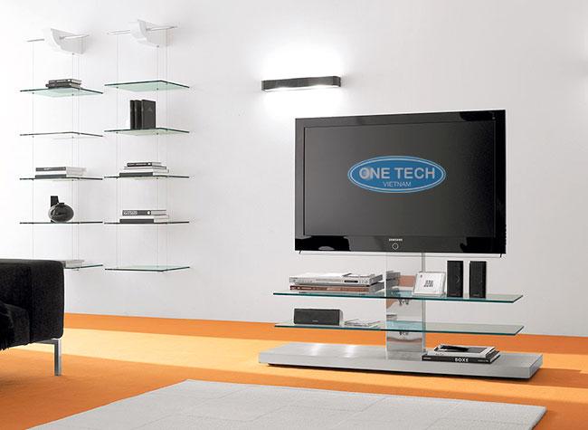 Kệ kính trang trí tivi