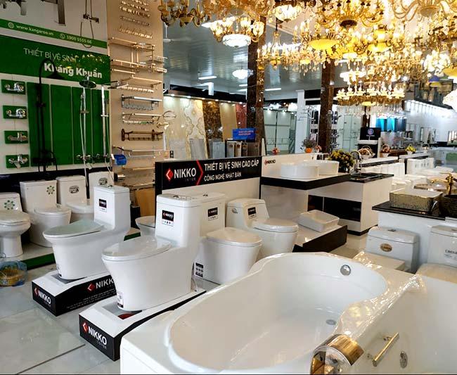 Kệ trưng bày thiết bị vệ sinh