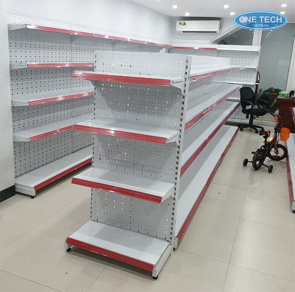 Onetech sản xuất và phân phối các mẫu giá kệ bày hàng siêu thị, cửa hàng tạp hóa tại Hải Dương