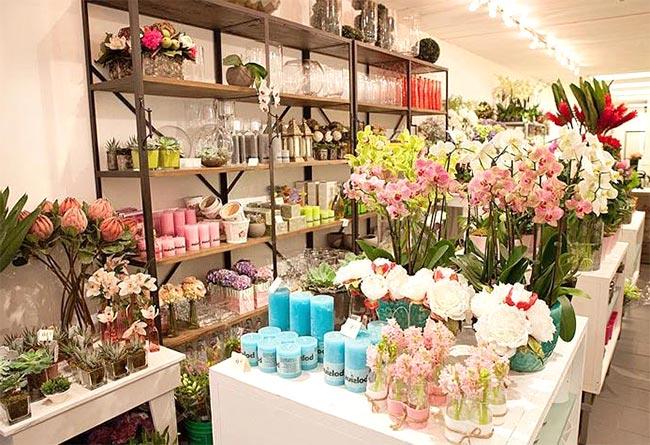 Thiết kế gọn gàng, trưng bày được nhiều loại hoa tươi