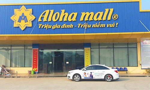 Dự án lắp đặt giá kệ siêu thị tại Aloha Mall