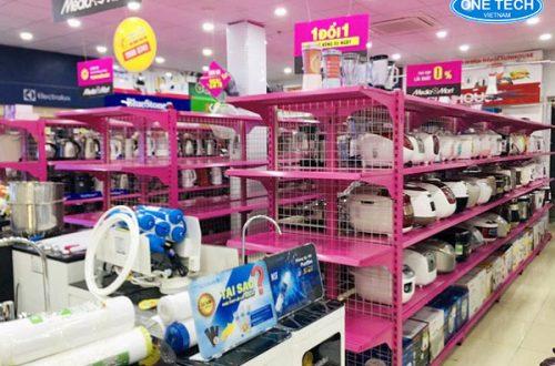 Dự án lắp đặt kệ siêu thị điện máy Mediamart