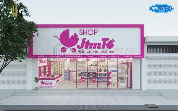 Dự án lắp đặt kệ siêu thị Mẹ và Bé Jim Tồ