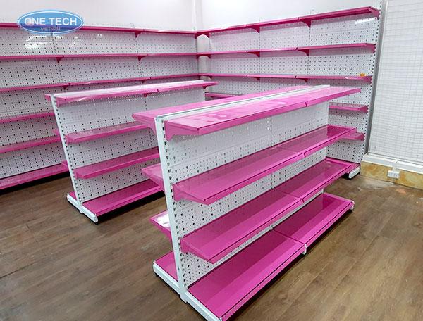 Mẫu kệ đơn - kệ đôi màu hồng cho các shop mẹ và bé, thời trang