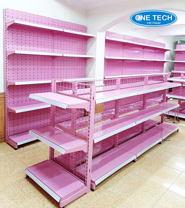 Kệ màu hồng: Cho shop mẹ và bé, thời trang