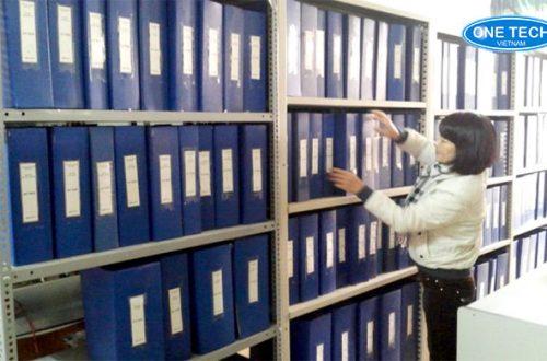 Kệ v lỗ để hồ sơ văn phòng