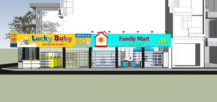 Mẫu thiết kế siêu thị 3D tại Onetech