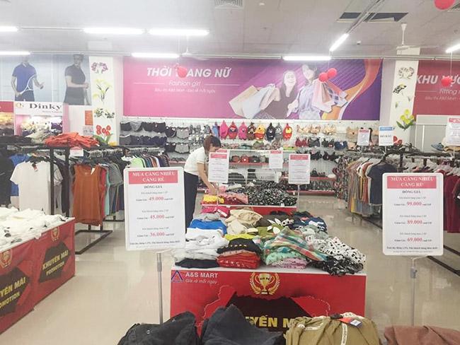 Siêu thị A&S Mart có quy mô rất lớn tại Thanh Hóa với sự đa dạng các mặt hàng kinh doanh