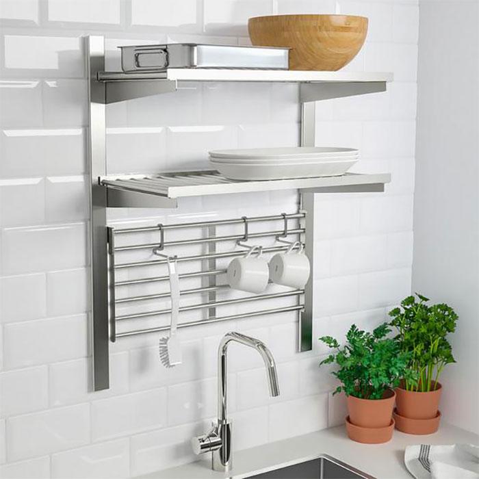 Mẫu kệ treo tường phòng bếp