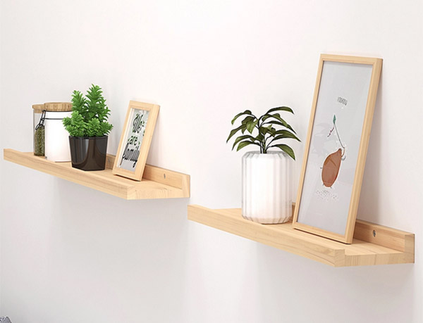 Mẫu kệ gỗ treo tường