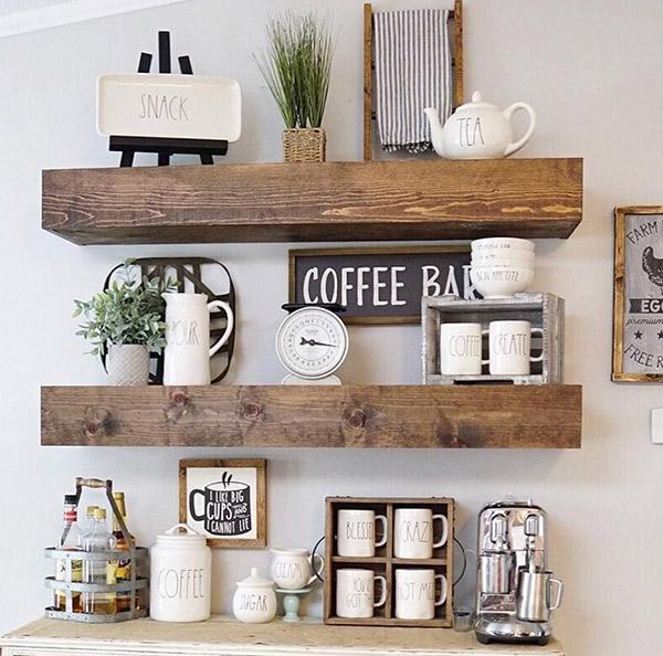 Kệ dùng để trang trí nội thất gia đình, cửa hàng, coffe bar...