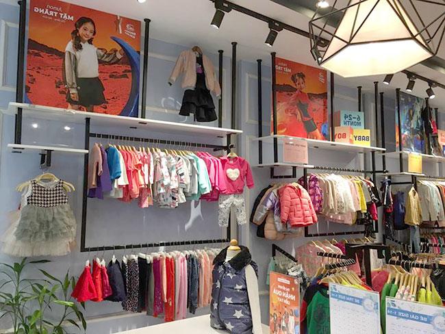 Cửa hàng shop quần áo trẻ em ngày một nhiều
