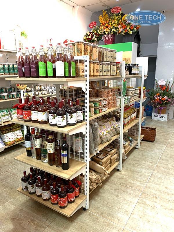 Kệ bày hàng siêu thị bằng gỗ